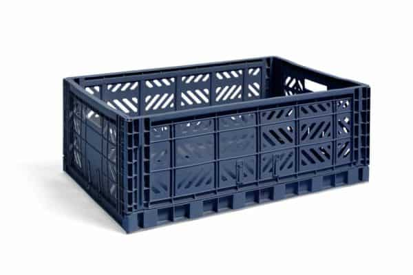 HAY Colour Crate L kasse - Navy