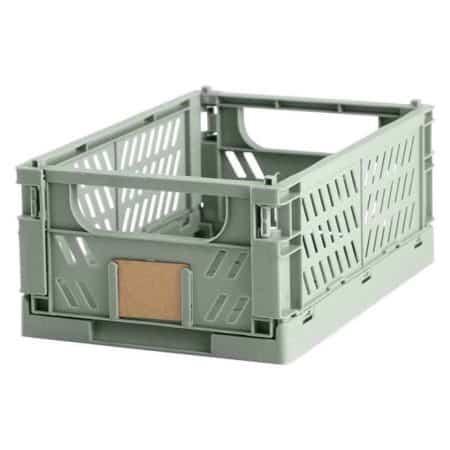 Opbevaringskasse foldbar 25x16,5x10 cm mint grøn