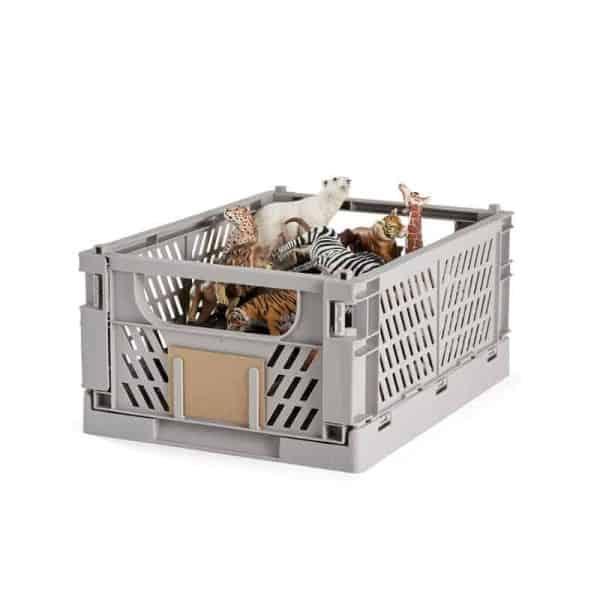 Opbevaringskasse foldbar 33x24,5x15 cm flint grå