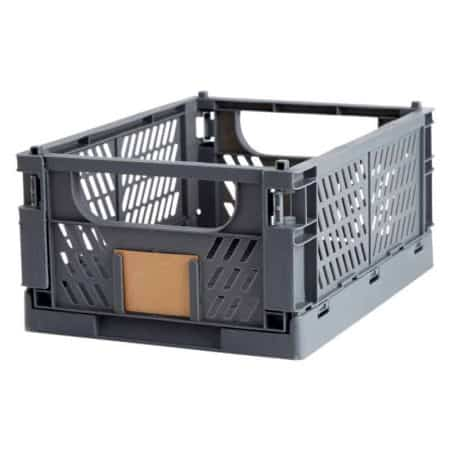 Opbevaringskasse foldbar 33x24,5x15 cm grå