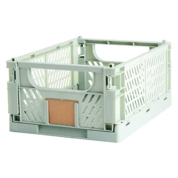 Opbevaringskasse foldbar 33x24,5x15 cm lysegrøn